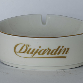 Dujardin Ceramic Ashtray - Advertising