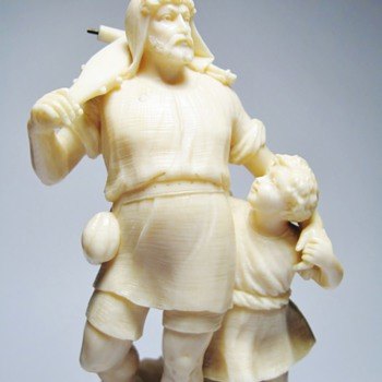 WILHELM TELL - IVORY STATUE /DATES 1860-1899  - Figurines