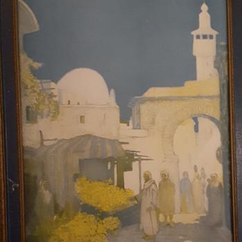 "Vintage Print "" A Moorish Street  - Posters and Prints"