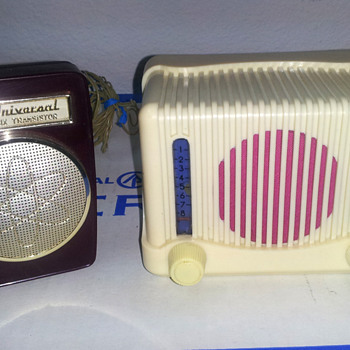 Transistor next to a tiny tube set - Radios