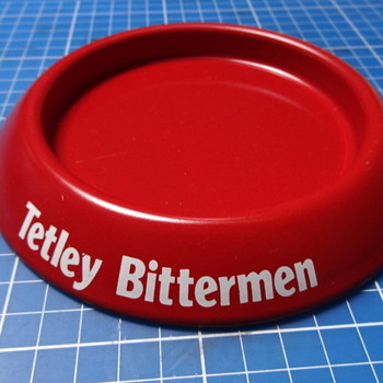 Tetley Bittermen pressed steel ashtray. - Tobacciana