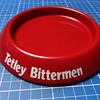 Tetley Bittermen pressed steel ashtray.