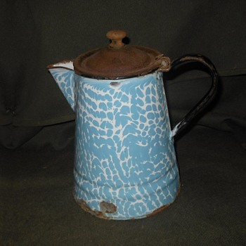 A Good Old Fashioned Actual Antique Graniteware Coffee Pot - Kitchen