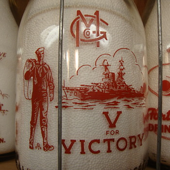 GENEVA MILK COMPANY...GENEVA NEW YORK WAR SLOGAN MILK BOTTLE - Bottles