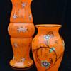 Tango orange with enamel decoration