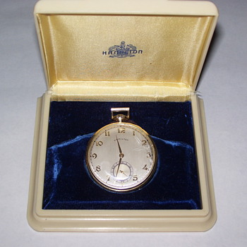 Vintage Hamilton Mens Pocket Watch with original case - Pocket Watches