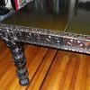 Antique Hand Carved Oak Table / Desk