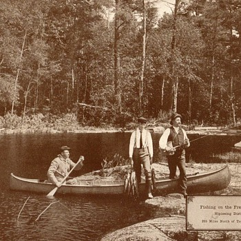 River Fishing in Canada - circa 1917 - Photographs