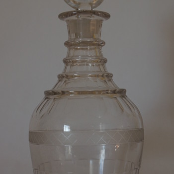 Irish decanter circa 1820. - Bottles