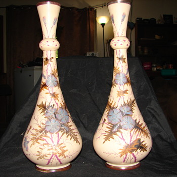 help with possible Bristol glass vases - Art Glass