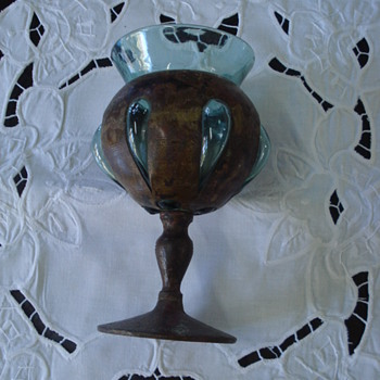 An strange goblet that was done in Jalisco Mexico - Glassware