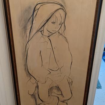 Phyllis Janes drawing. - Fine Art