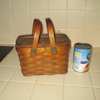 Small Basket with Two Handles and Hinged Lid - Furniture