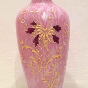 Nice pink spatter - Art Glass