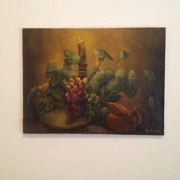 Still Life Oil On Canvass - Fine Art