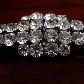 Deco diamente clip on earrings or brooch - Art Deco