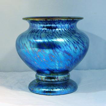 Art Deco Loetz Cobalt Papillon Vase  - Art Nouveau