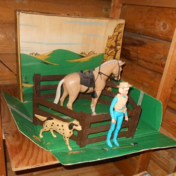 Marx Johnny West Josie West Gift Set Sears 1968 - Toys