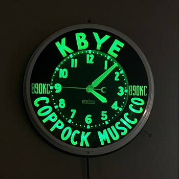 KBYE radio station neon clock - Clocks