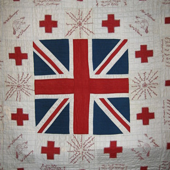 WWI Red Cross Signature Quilt from Norfolk County Ontario