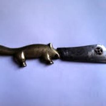 Brass Beaver Knife