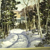 "Otto Planding (1887-1964)Oil on Board"" Muskoka lake 1930"""