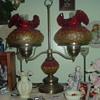 double fenton student lamp