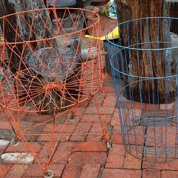 Blue Wire Basket - Mid-Century Modern
