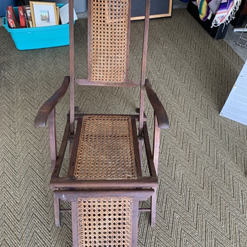 Antique Ship Board Folding Lounge Deck Chair - Furniture