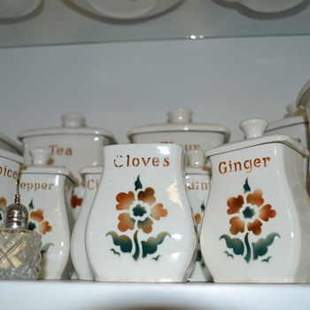 Arabia Spice Canisters. Made in Finland - Pottery