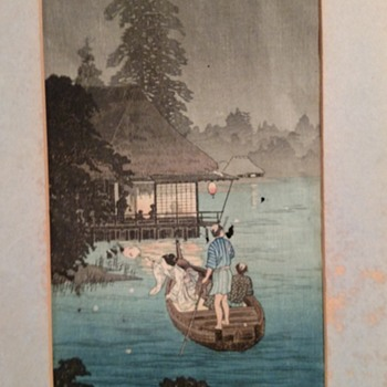 Asian original painting signed on paper - Asian