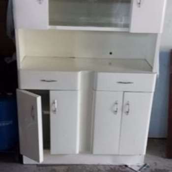 Metal kitchen hutch