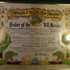 1945 Domain Of The Golden Dragon Plaque/Certificate