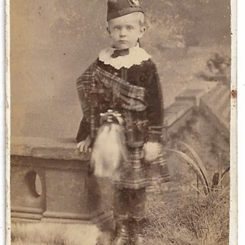 CDV, Scottish Young Boy, C.LAWES, COBOURG - Photographs
