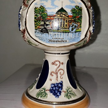 Ceramic German Festival Wine Goblet - Pottery
