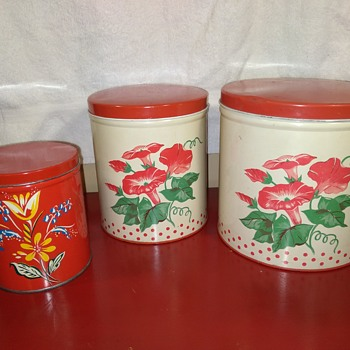 yet more old tin kitchen canisters! - Kitchen