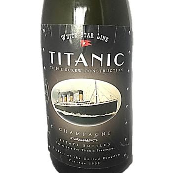 White Star Line Titanic Champagne Bottle - Bottles