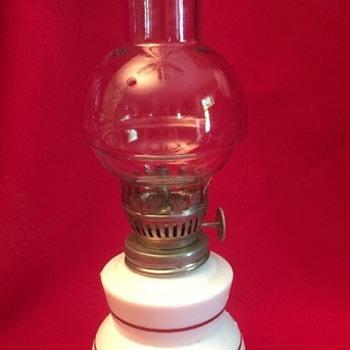 "Small 3.5"" Milk white oil lamp - Lamps"