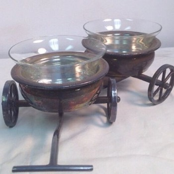 Rogers Silverplate Double Condiment Wagon/Caddy