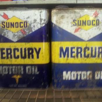 2 gallon sunoco cans - Petroliana