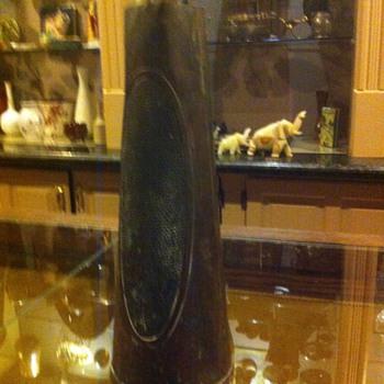Arts and Crafts copper vase marked Beldray  England