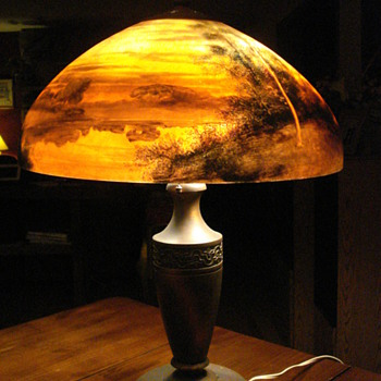 Reverse Painted Lamp -- Beautiful, but what is it worth!