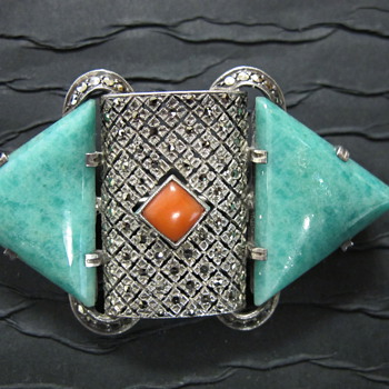 Art Deco Amazonite Pin/Brooch Fahrner? - Fine Jewelry