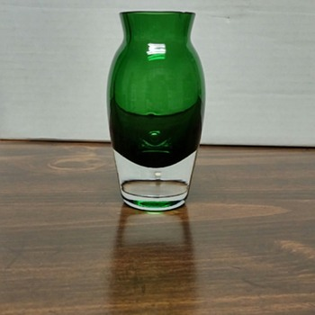 "Awesome looking green to clear ""vessel"" that my boss thinks is a shot glass. - Art Glass"