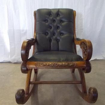 vintage leather rocker