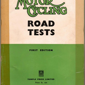 "1952 - ""Motor Cycling"" Road Tests - Book - Paper"