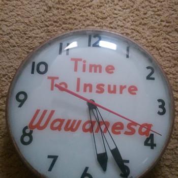 Wawanesa Insurance Light Up Clock - Clocks