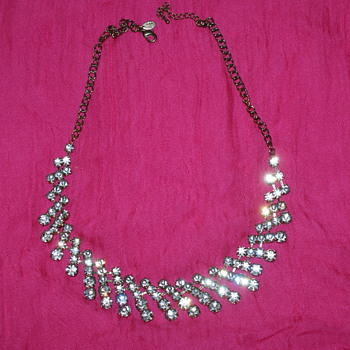 Cara N.Y. Rhinestone Costume Necklace - Costume Jewelry