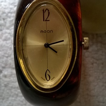 Vintage AGON Swiss Movement Bangle/ Cuff Watch