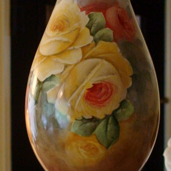 Signed Hand-Painted Vintage Lamp